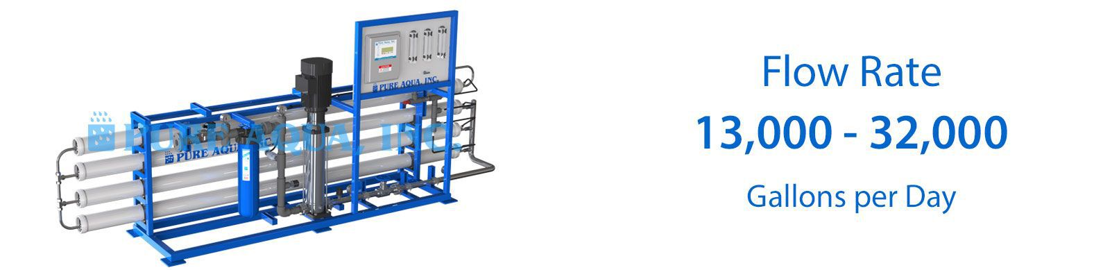 commercial brackish water reverse osmosis BWRO systems 13000-32000 gpd specifications