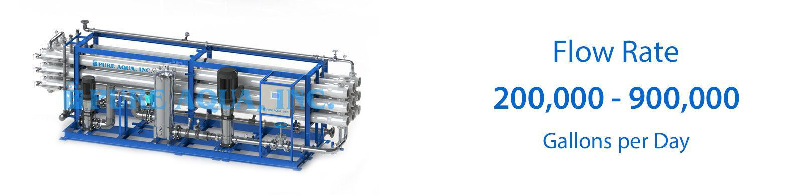 industrial brackish water reverse osmosis BWRO systems 200000-900000 gpd specifications
