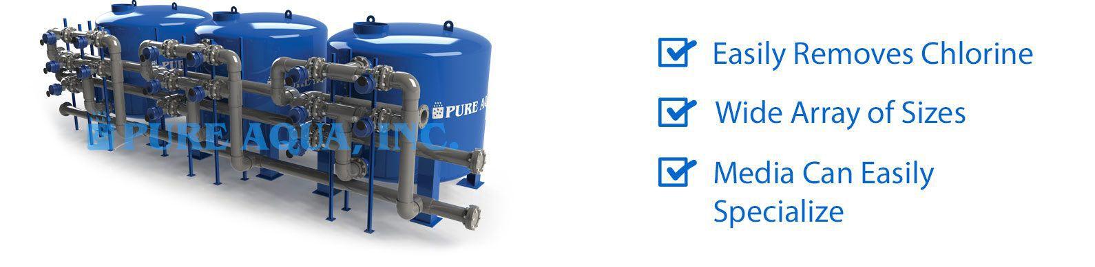 industrial water media filters mf 1000 series features