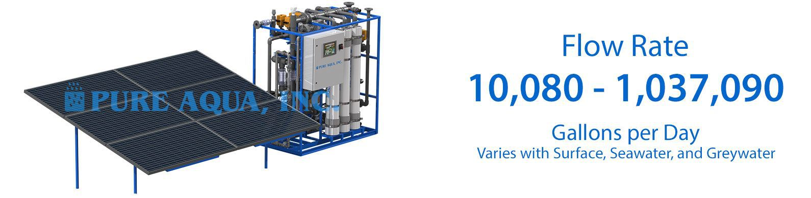 solar powered ultrafiltration UF membranes systems 10080-1037090 gpd specifications