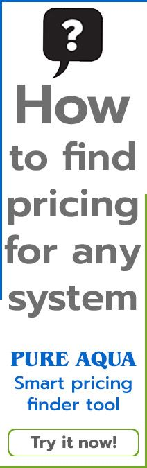 water treatment systems pricing finder tool